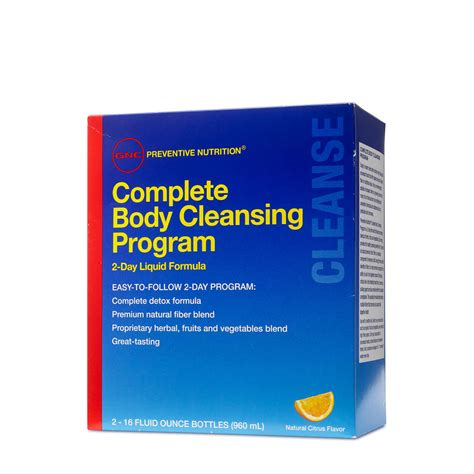 Does Gnc Sell Detox For by Gnc Preventive Nutrition Complete Cleansing Progrm 2
