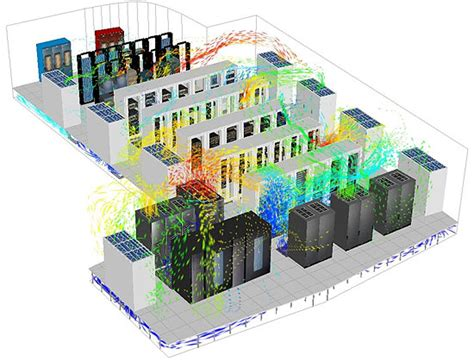 Visio Server Room Floor Plan by Virtual Facility Simulation Cuts Data Center Cooling Costs