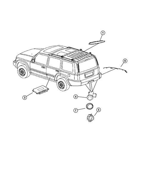jeep commander parts diagram jeep commander park assist detection system