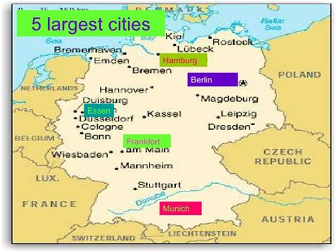 cities in germany germany powerpoint