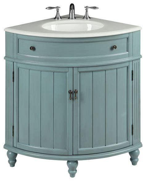 "24"" Cottage style Vantage Light Blue Thomasville Bathroom"
