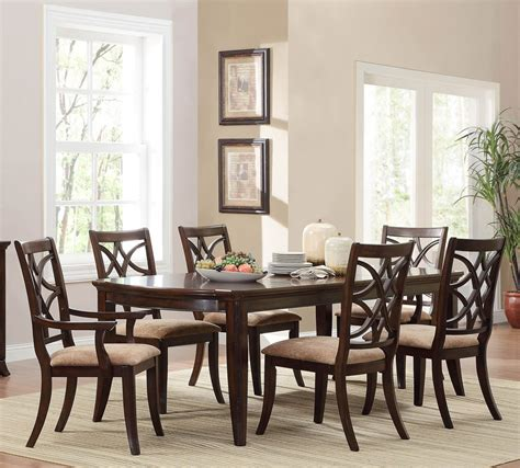 seven piece dining room set homelegance keegan 7 piece dining room set in brown cherry