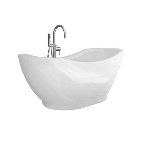 all in one bathtub renwil athena 67 in acrylic freestanding flatbottom non
