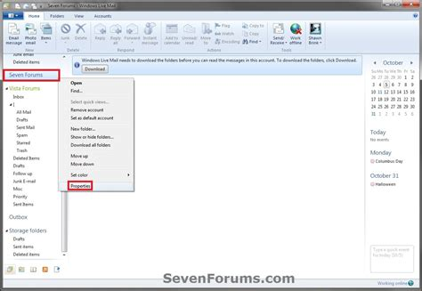 windows live mail export and import email accounts