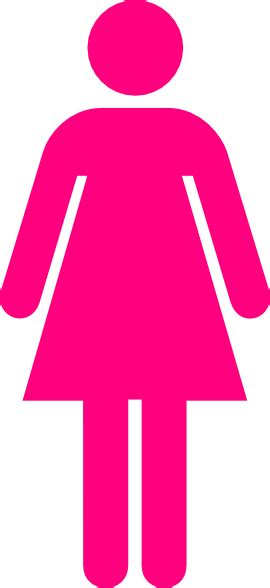 women s bathroom logo ladies bathroom symbol hot pink clip art at clker com
