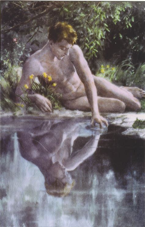 Narcissus Painting dig into the greeks h mythology