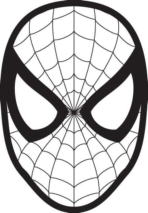 spiderman symbol coloring page spiderman face logo spiderman mask clipart 23425wall jpg