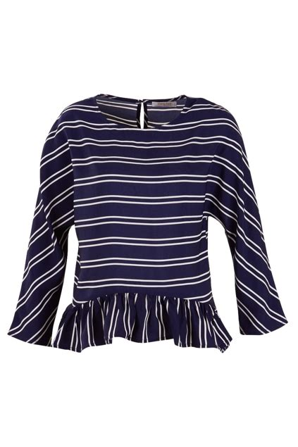 Bird Frill Striped Top Size S living doll clothing stripe frill top womens