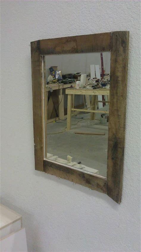 diy rustic mirror diy rustic pallet mirror 101 pallets