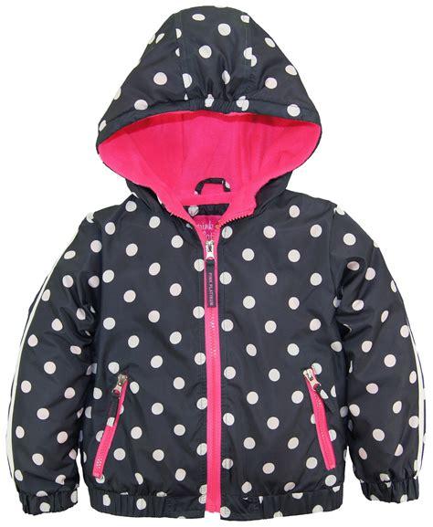 Jaket Hoodie Hello Polka Pink Platinum Polka Dot Active Hooded Jacket