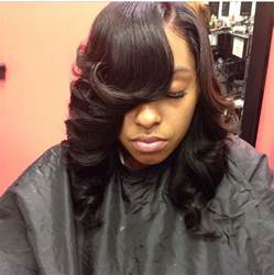 which hair is better for sew in bob bob sew in feathered hair weave slayers 169 pinterest