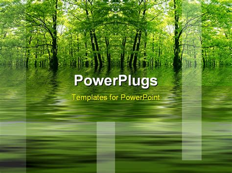 presentation themes nature powerpoint template green lake in a forest as a metaphor