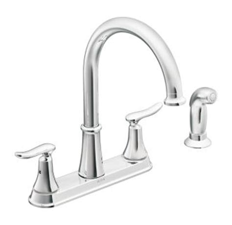 moen solidad kitchen faucet moen ca87015 chrome high arc kitchen faucet with side
