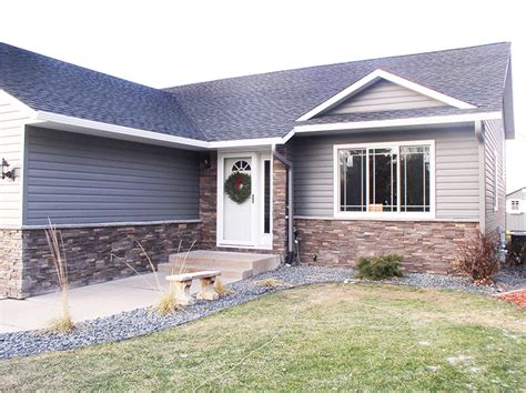 houses with brick and siding brick and stone siding options eau claire black river falls asher