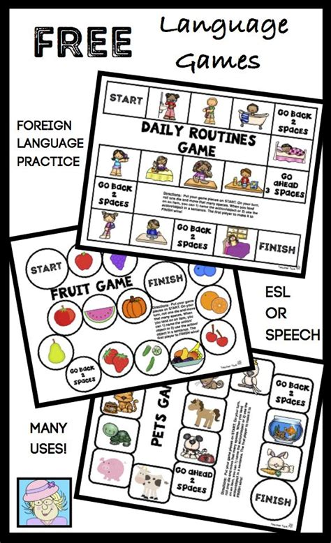 printable language board games language board games grab this set of 10 free one page