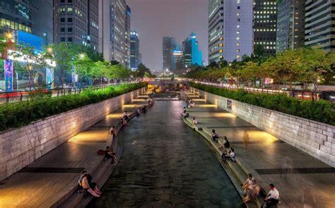 wallpaper iphone 5 korea wonderful city canal in seoul south korea hd