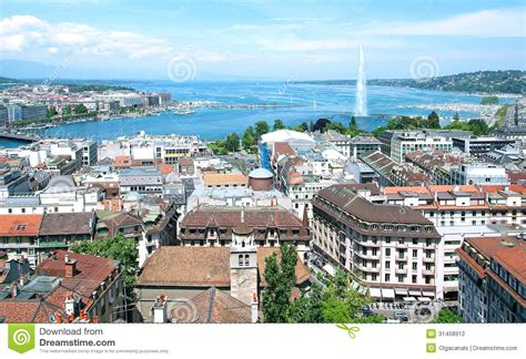 Overall Jeneva general view of geneva stock photography image 31458912