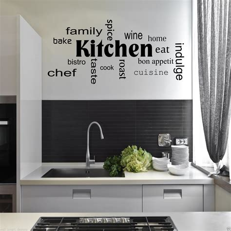 Kitchen Backsplash Decals kitchen words phrases wall sticker quote decal stencil