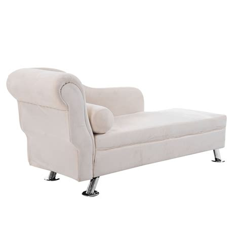 cream chaise lounge chair homcom 62 quot plush chaise lounge chair cream white