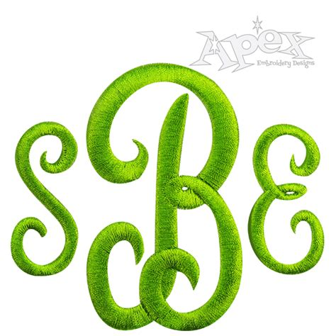 embroidery design monogram classic monogram embroidery font