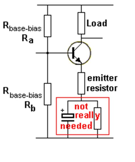 emitter resistor value the transistor lifier