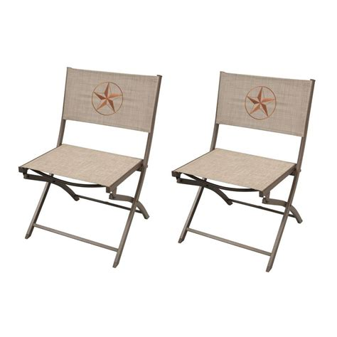 folding patio chairs home depot hton bay fairplay folding sling patio chair