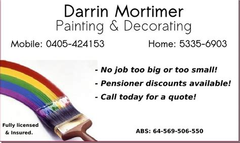decorating business free advertising darrin mortimer painting decorating