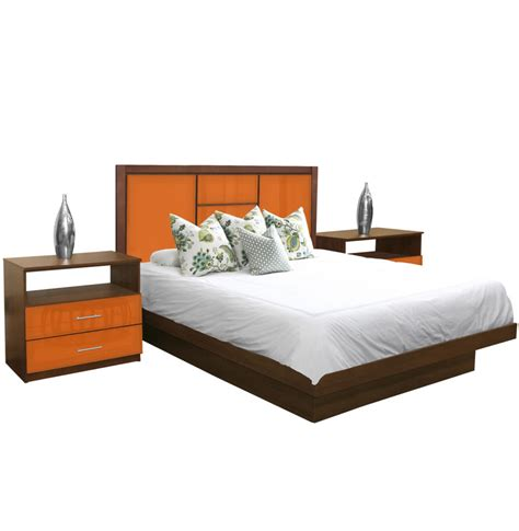 broadway king size platform bedroom set  piece contempo space
