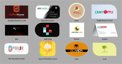 Different Designs Of Visiting Cards