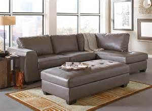 Left Hand Chaise Joaquin Grey Leather Sectional Modern Sectional Sofas