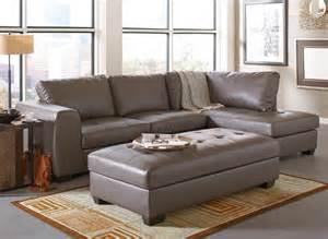 Gray Leather Sectional Sofa Joaquin Grey Leather Sectional Modern Sectional Sofas By Modern Furniture Warehouse