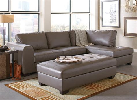 Gray Leather Sectional by Joaquin Grey Leather Sectional Modern Sectional Sofas