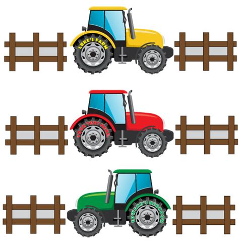 tractor wall stickers personalised tractor wall sticker boys tractor with name