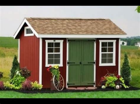gable storage shed plans blueprints youtube