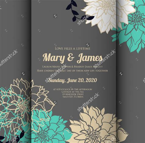 Wedding Card Templates by 58 Wedding Card Templates Free Printable Sle