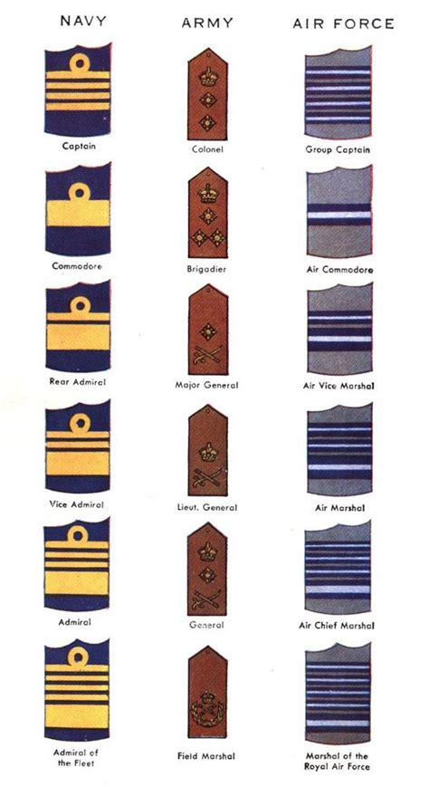 canadian military rank structure for the air force navy and army the minute book