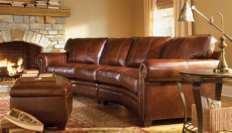 leather sofa  ottoman  oriental rug hill country