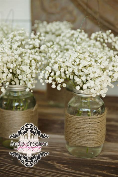 wedding table decoration ideas with jars 68 baby s breath wedding ideas for rustic weddings jars