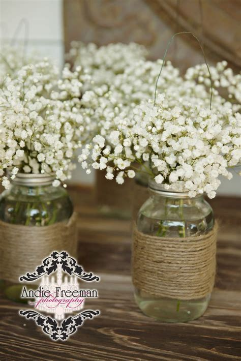 68 Baby?s Breath Wedding Ideas for Rustic Weddings   Jars