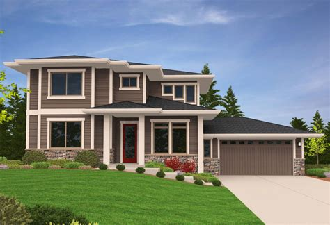 side slope house plans prairie modern house plan for side sloping lot 85079ms 2nd floor master suite cad
