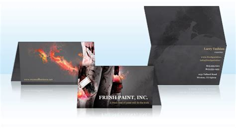 vistaprint folded business card template folded business cards vistaprint