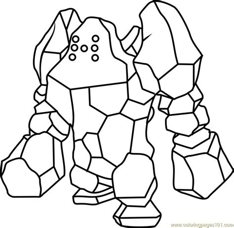 pokemon coloring pages rhyhorn free printable coloring pages legendary pokemon regyrock