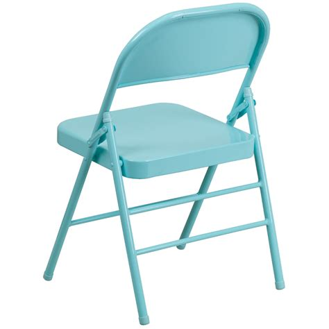Teal Folding Chair by Hercules Colorburst Series Tantalizing Teal Braced