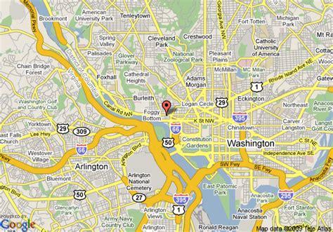 washington dc lata map map of georgetown suites washington