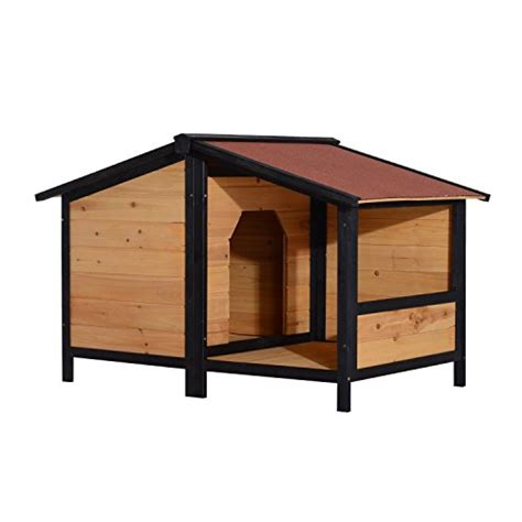 elevated dog house pawhut elevated dog house with opening roof doggie house depot