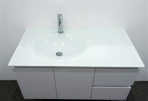 glass vanity units bathroom bathroom vanity unit glass top gloss cabinet set 1000mm