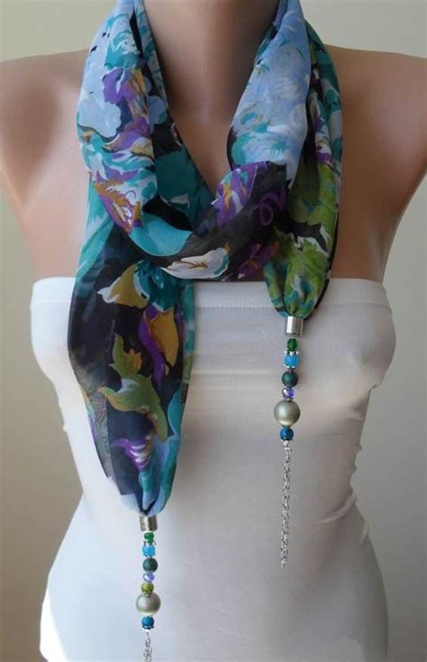 how to make jewelry scarves scarf necklace more flowers