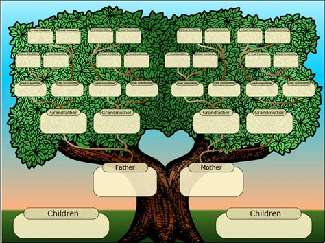 4 generation family tree template with siblings pictures