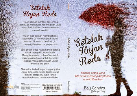 Karya Karya Boy Candra rasa lelaki buku setelah hujan reda