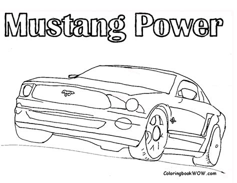 coloring pages of mustang cars ford mustang power car coloring pages free printable